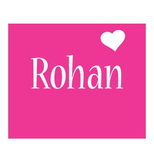 Rohan Logo Name Logo Generator I Love Love Heart