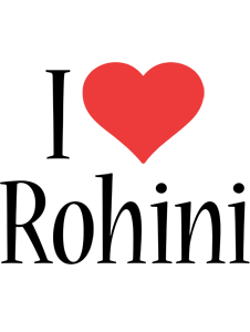 Rohini i-love logo
