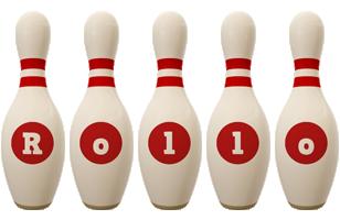 Rollo bowling-pin logo