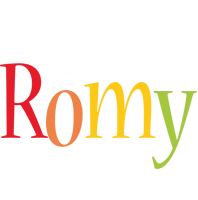 Romy birthday logo