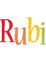 Rubi birthday logo