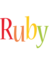 Ruby birthday logo