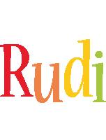 Rudi birthday logo