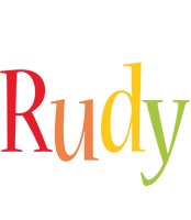 Rudy birthday logo