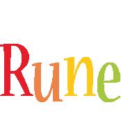 Rune birthday logo