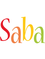 Saba birthday logo