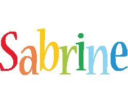 Sabrine birthday logo