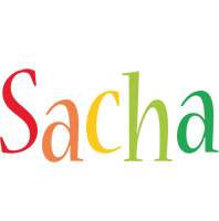 Sacha birthday logo