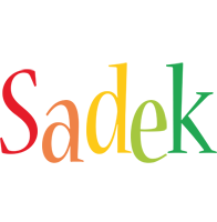 Sadek birthday logo