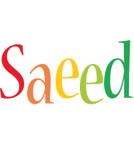 Saeed birthday logo