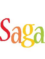 Saga birthday logo