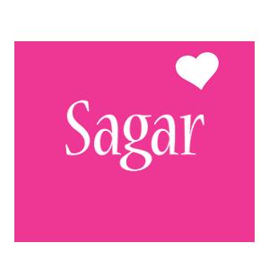 Sagar Logo Name Logo Generator - I Love, Love Heart ...