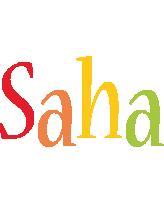Saha birthday logo
