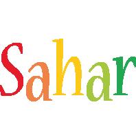 Sahar birthday logo