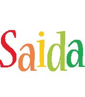 Saida birthday logo