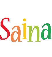 Saina birthday logo