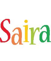Saira birthday logo