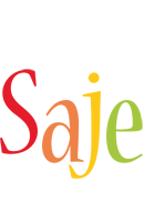 Saje birthday logo