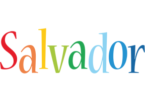 Salvador birthday logo