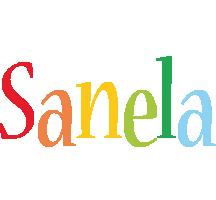 Sanela birthday logo