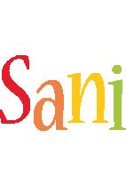 Sani birthday logo