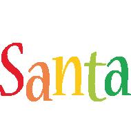 Santa birthday logo