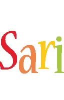 Sari birthday logo