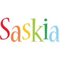 Saskia birthday logo