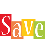 Save colors logo