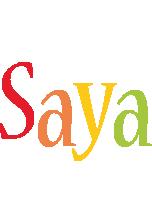Saya birthday logo