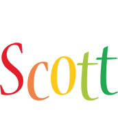 Scott birthday logo