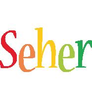 Seher birthday logo