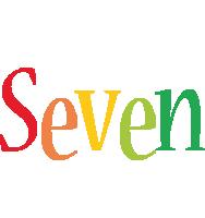Seven birthday logo