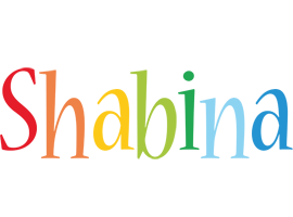 Shabina birthday logo