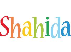 Shahida birthday logo