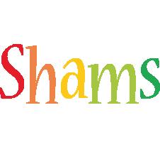 Shams birthday logo