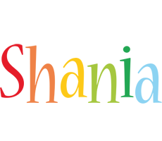 Shania birthday logo