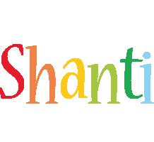 Shanti birthday logo