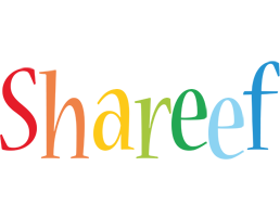 Shareef birthday logo
