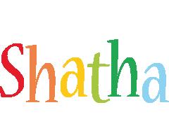 Shatha birthday logo