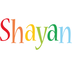 Shayan birthday logo