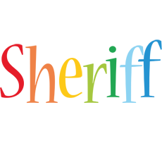 Sheriff birthday logo