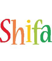 Shifa birthday logo