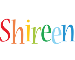 Shireen birthday logo