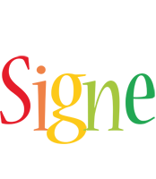 Signe birthday logo