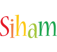 Siham birthday logo