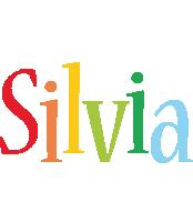 Silvia birthday logo