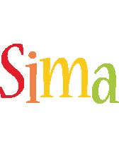 Sima birthday logo