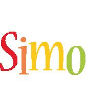 Simo birthday logo