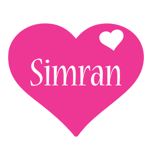 Simran love-heart logo